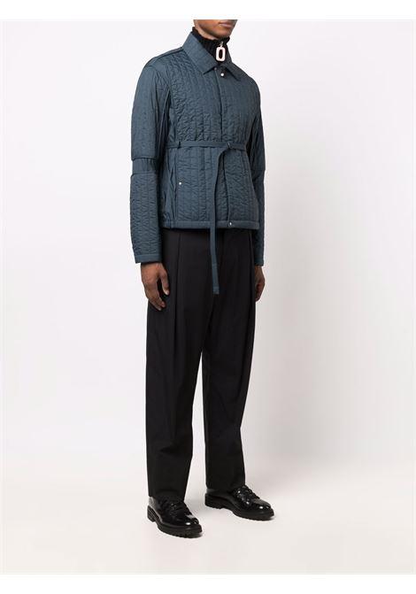 Ocean blue quilted belted-waist jacket - men  CRAIG GREEN | CGAW21CWOJKT09OCNBL