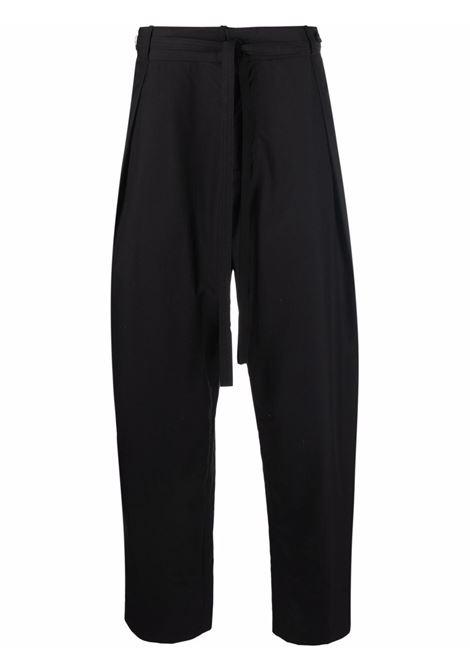 Black pleated-waist chinos - men  CRAIG GREEN | CGAW21CWOTRS08BLK