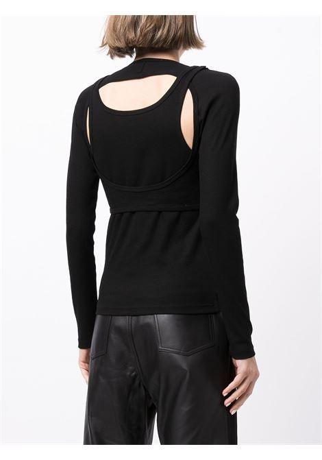 Top a maniche lunghe nero- donna DION LEE | A3473P21BLK