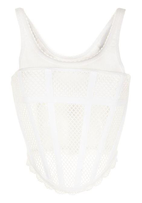Top con scollo a u bianco- donna DION LEE | A3495P21IVRY