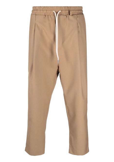 Pantaloni con coulisse in beige - uomo DRÔLE DE MONSIEUR | FW21BP001CL