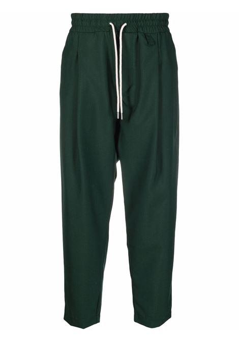 Pantaloni con coulisse in verde - uomo DRÔLE DE MONSIEUR | FW21BP001GN