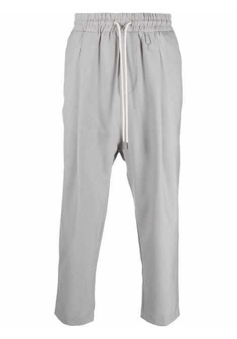 Pantaloni con coulisse in grigio - uomo DRÔLE DE MONSIEUR | FW21BP001GY