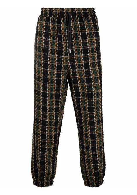 Pantaloni in maglia con fantasia a quadri - uomo DRÔLE DE MONSIEUR | FW21BP004BW