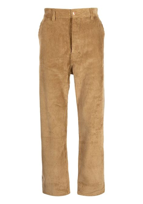 Corduroy straight-leg trousers in beige - men DRÔLE DE MONSIEUR   FW21BP009BG