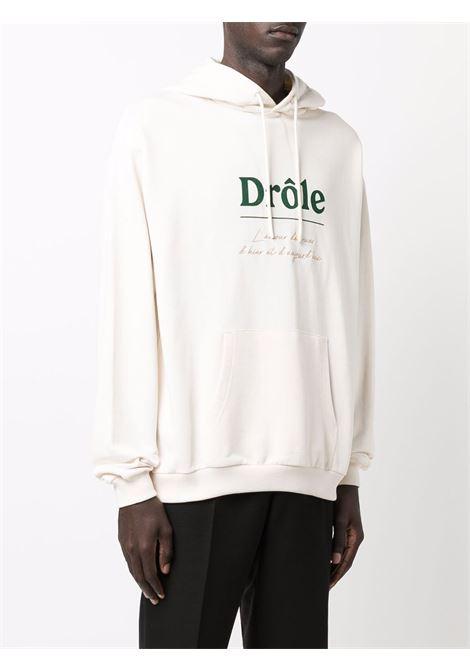 Felpa con cappuccio in bianco - uomo DRÔLE DE MONSIEUR | FW21HO002WT