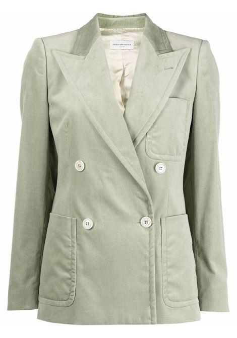 Beau double-breasted blazer in mint - women  DRIES VAN NOTEN   2120104043254608