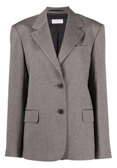Brown bird tailored blazer - women  DRIES VAN NOTEN   2120104183042703