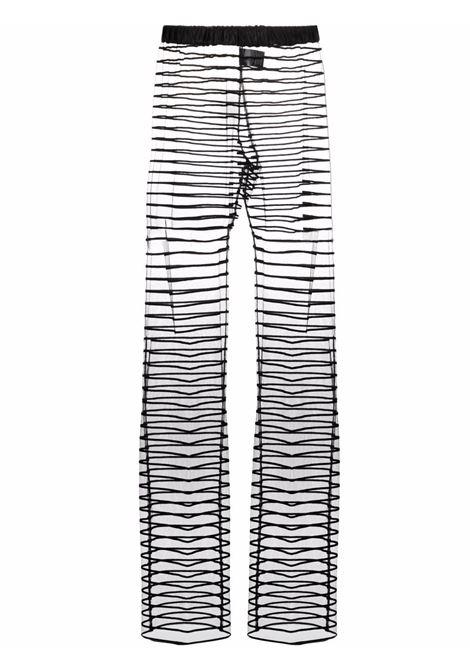 Palmira wide-leg sheer trousers - women  DRIES VAN NOTEN   2120109063177900