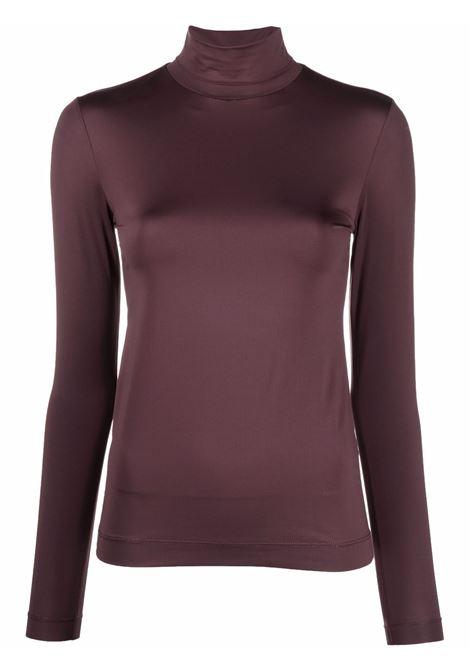 Brown heyser roll-neck top - women  DRIES VAN NOTEN   2120111803220703