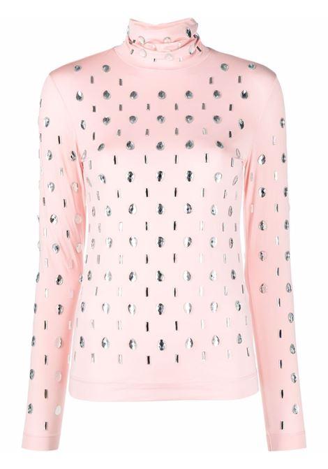 Pink heyser roll-neck top - women  DRIES VAN NOTEN   2120111843220305