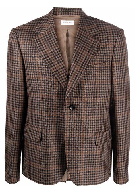 Brown single-breasted blazer - men  DRIES VAN NOTEN | 2120204023039703
