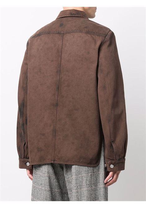 Brown valash denim jacket - men  DRIES VAN NOTEN | 2120205073382703