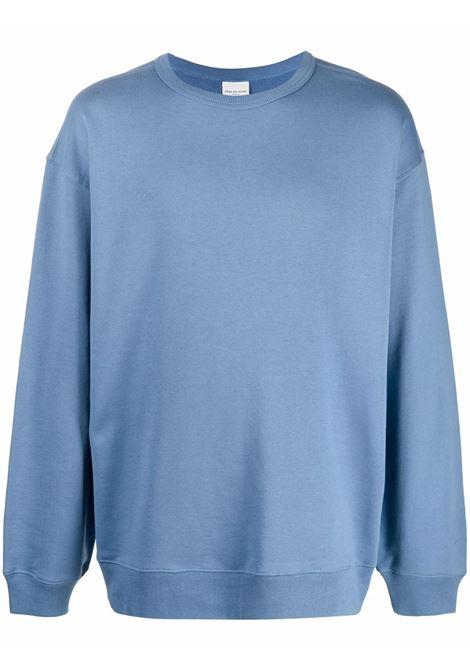 Hax crew-neck sweatshirt in blue - men  DRIES VAN NOTEN | 2120211463608506