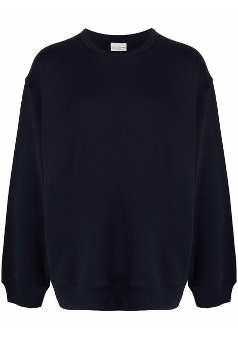Hax crew-neck sweatshirt in navy blue - men  DRIES VAN NOTEN | 2120211463608509