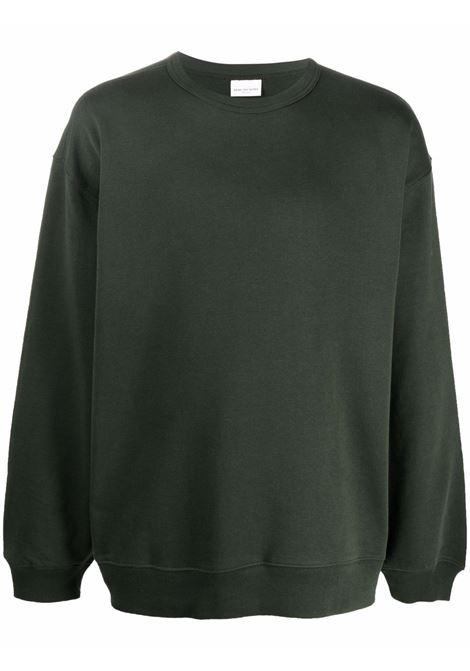 Hax crew-neck sweatshirt in green - men  DRIES VAN NOTEN | 2120211463608605