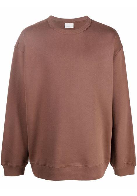 Hax crew-neck sweatshirt in brown - men  DRIES VAN NOTEN | 2120211463608703