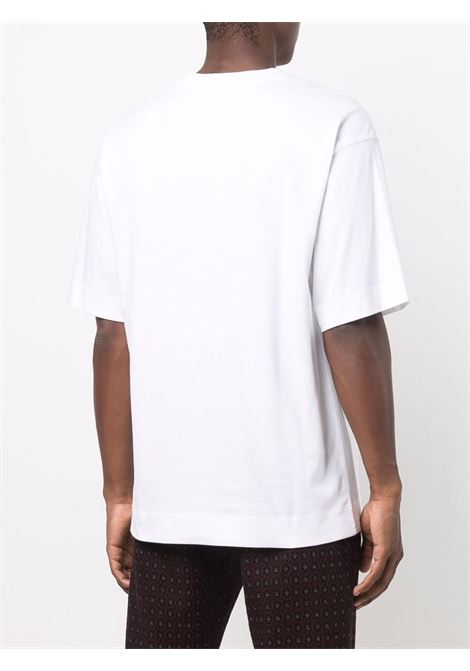 Heli t-shirt in white - men  DRIES VAN NOTEN | 2120211743604001