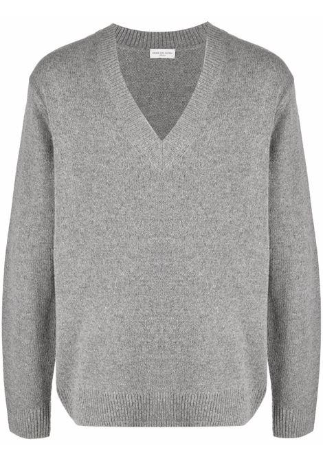 Tamir v-neck jumper in grey - men  DRIES VAN NOTEN | 2120212203703802