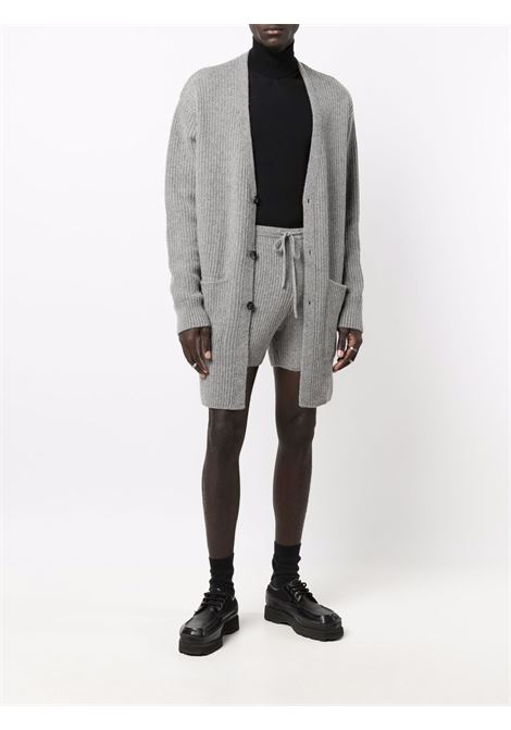 Tarsia ribbed bermuda shorts in grey - men  DRIES VAN NOTEN | 2120212363703802