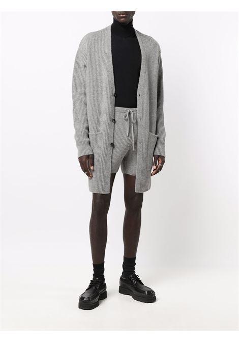 Timo v-neck cardigan in grey - men  DRIES VAN NOTEN | 2120212843703802