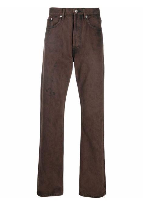 Brown straight-leg penna jeans - men  DRIES VAN NOTEN | 2120224103382703