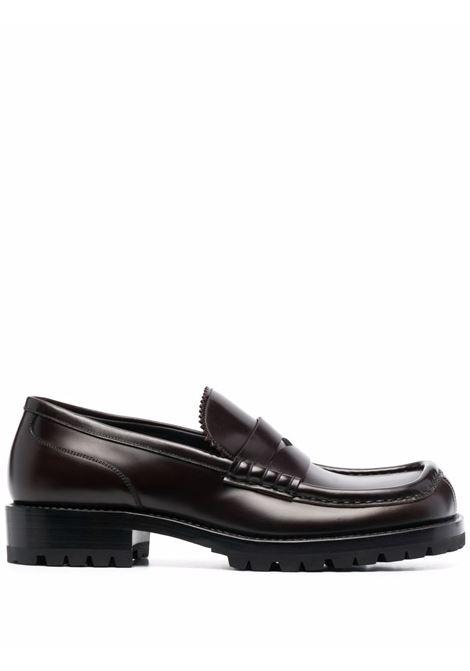 Square toe derby in brown - men  DRIES VAN NOTEN | SM212094703