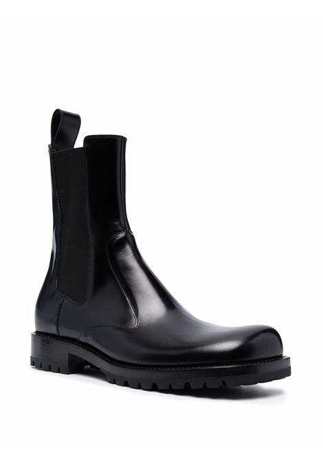 Black polished-leather chelsea boots - men  DRIES VAN NOTEN | SM212095900