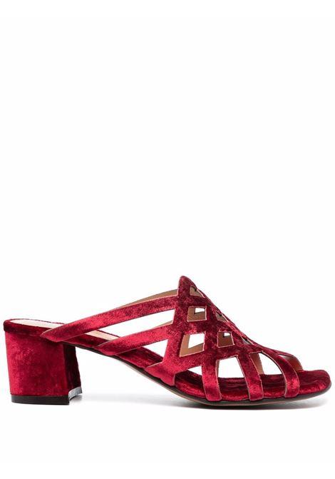 Red velvet  mules - women  DRIES VAN NOTEN   WW212186609352