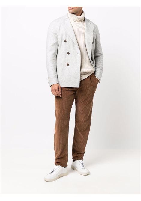 Double-breasted tailored blazer grey - men ELEVENTY | D70GIAA02JAC2401813N