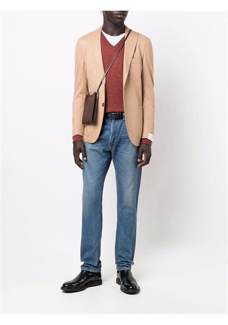 Single-breasted blazer in camel brown - men  ELEVENTY | D70GIAA05TES0D10704