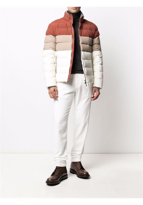 Corduroy drawstring trousers white - men  ELEVENTY | D70PAND04TET0D00701