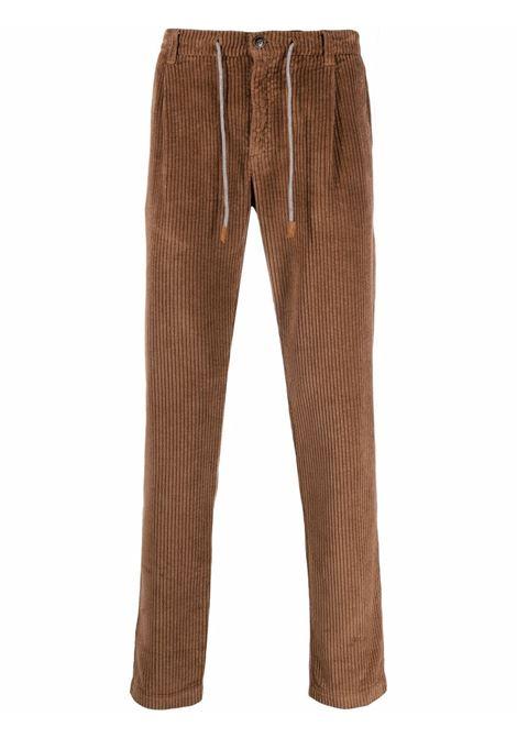 Drawstring corduroy trousers deep brown - men ELEVENTY | D70PAND04TET0D00725