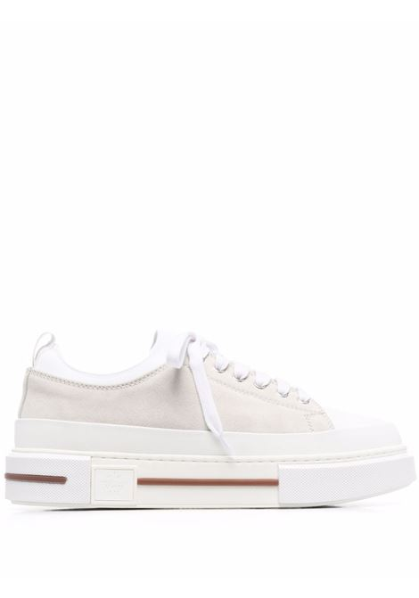 Two-tone flatform sneakers in white and beige - men ELEVENTY | D72SCND02SCA0D00801
