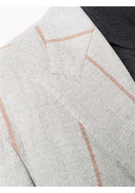 Pinstripe-print single-breasted blazer light grey - men ELEVENTY | D75GIAC12TES0D00213