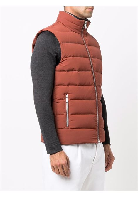 Padded zip-up gilet ocra brown - men  ELEVENTY | D75GILD05GBT2700709