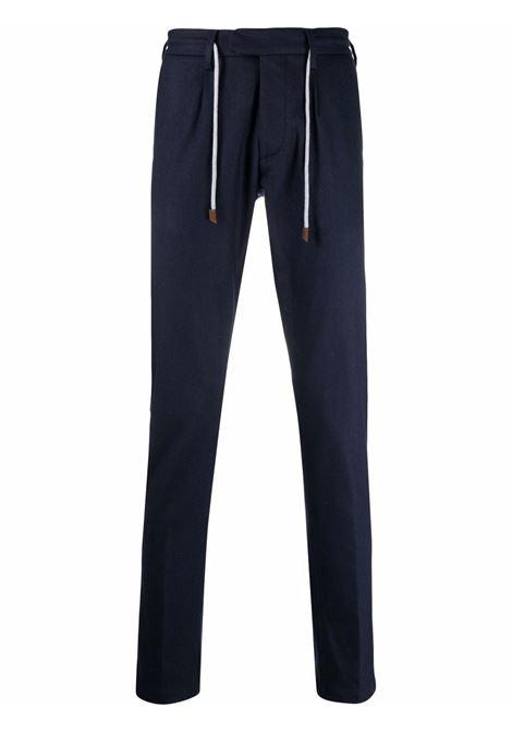 Drawstring-waist trousers dark blue - men  ELEVENTY | D75PANB21TES0D03711