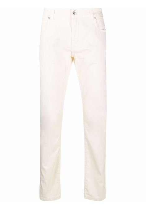 Skinny jeans ivory - men  ELEVENTY | D75PAND16TET0D02000