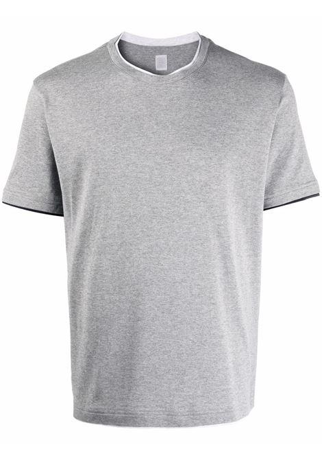 Grey short-sleeve cotton T-shirt - men  ELEVENTY | D75SHD05TES0D159141311