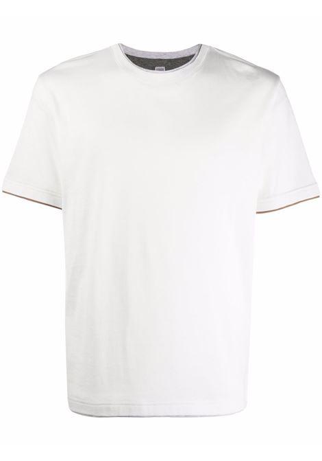 T-shirt a maniche corte in bianco - uomo ELEVENTY | D75TSHD05TES0D159011304