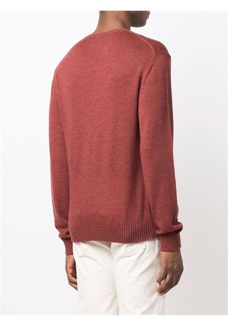 Crewneck wool jumper in red - men  ELEVENTY | D76MAGC04MAG2401209N