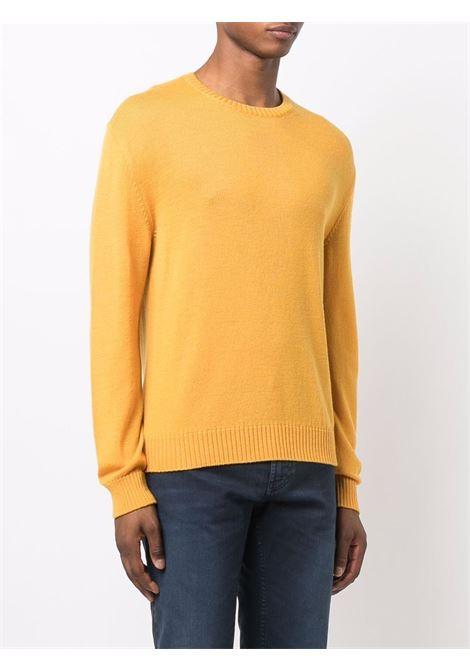 Crewneck jumper in mustard - men ELEVENTY | D76MAGC04MAG2401228N