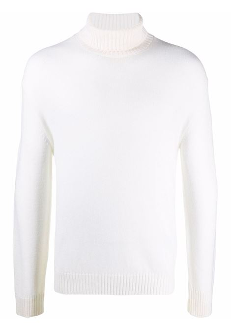 Knitted roll neck jumper in off-white - men  ELEVENTY | D76MAGD19MAG2401200