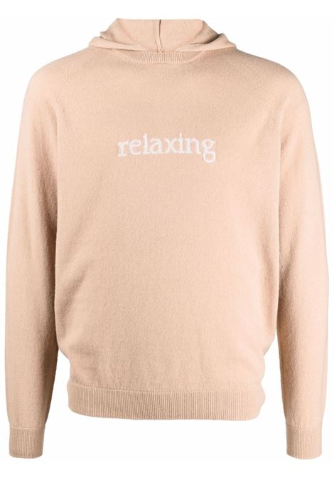 Relaxing-knit hooded jumper beige - uomo ELEVENTY | D76MAGD39MAG0D02704