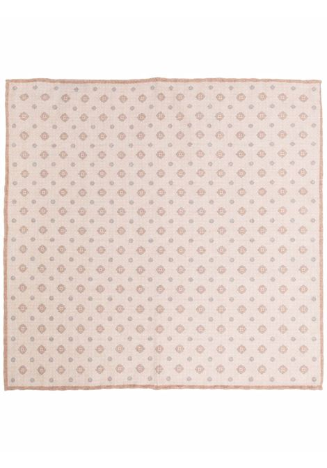 Beige printed pocket square - man  ELEVENTY | D77POCA01TES0D0120204