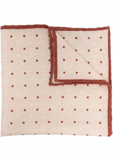 Fazzoletto da taschino beige e rosso - uomo ELEVENTY | D77POCA01TES0D0180209