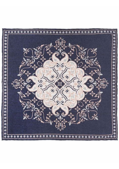 Blue printed pocket square - man  ELEVENTY | D77POCA01TES0D0201104