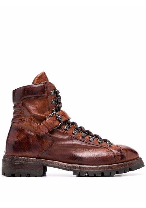 Tobacco-brown chunky lace-up boots ELEVENTY | D77SCAD07SCA0D00504