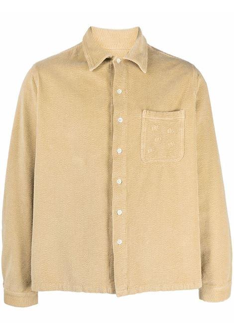 Button-up overshirt in beige - men  ERL   ERL03B0013