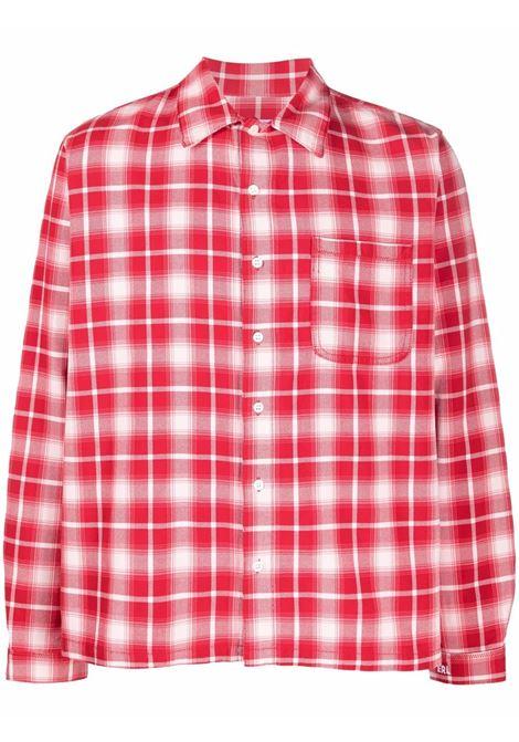 Camicia a quadri in rosso e bianco - uomo ERL | ERL03B0021